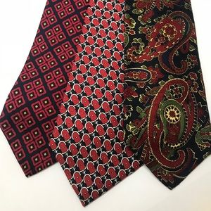 Lot of 3 Brooks Brothers 100% Silk Ties USA Made